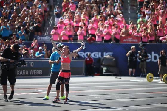 New women's champion, Samantha Briggs.