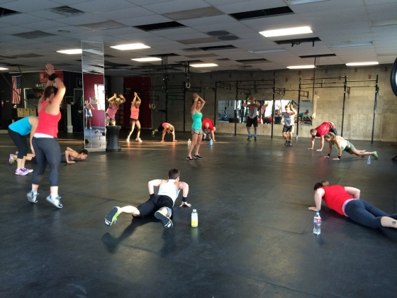 6:30 making death by burpees more fun by adding a dance battle with someone in the middle each round!!
