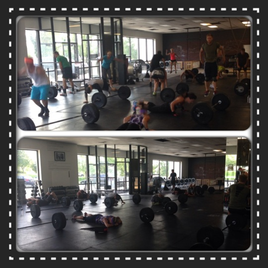 There's nothing like watching a class killing a WOD! 5:45pm during and after Tuesday's WOD.