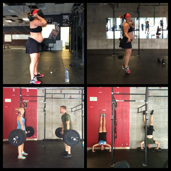 Amanda completely destroying Monday's WOD. Rhett & Karla well we can't really discuss what went down before this but they sure were cute doing Diane together.