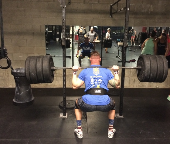 Brad hits new PR on BS @375!